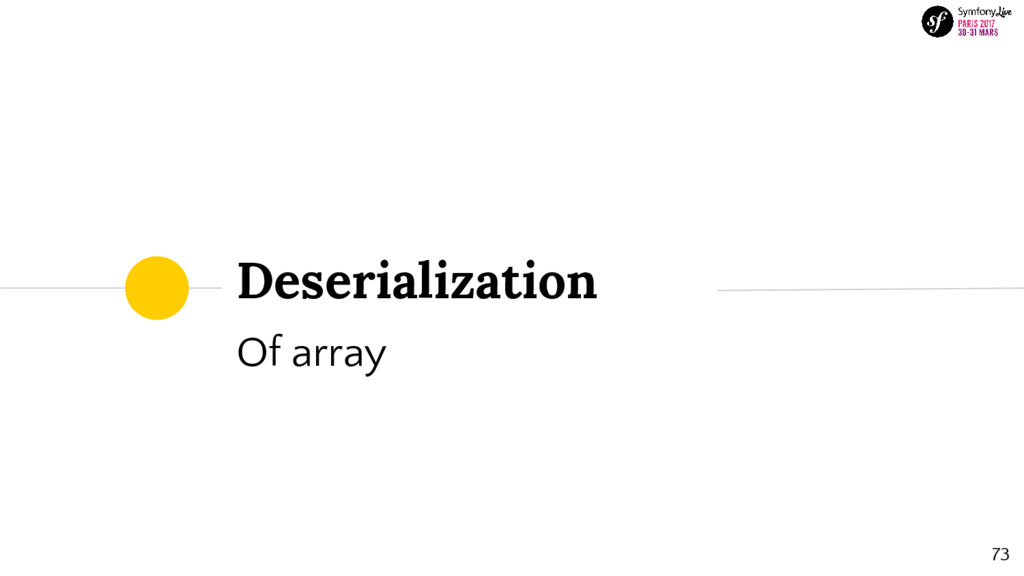 Deserialization Of array 73