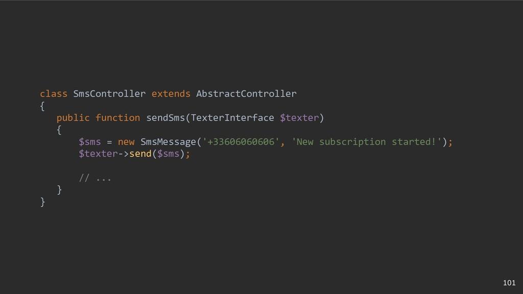 101 class SmsController extends AbstractControl...