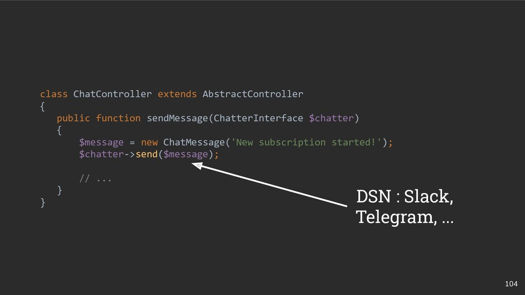 104 class ChatController extends AbstractContro...