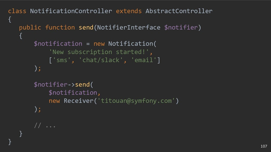 107 class NotificationController extends Abstra...