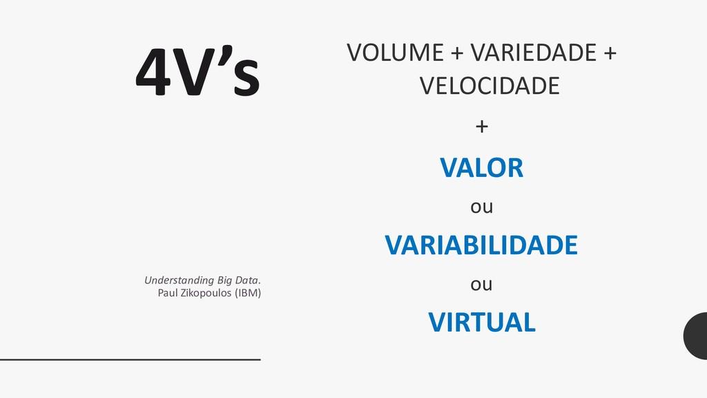 4V's Understanding Big Data. Paul Zikopoulos (I...