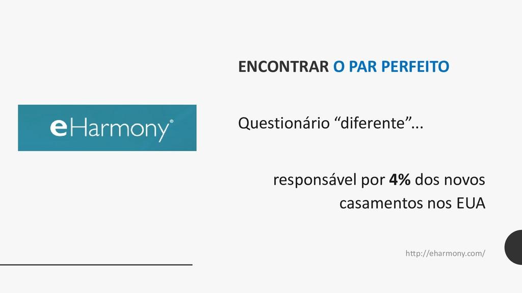 """ENCONTRAR O PAR PERFEITO Questionário """"diferent..."""