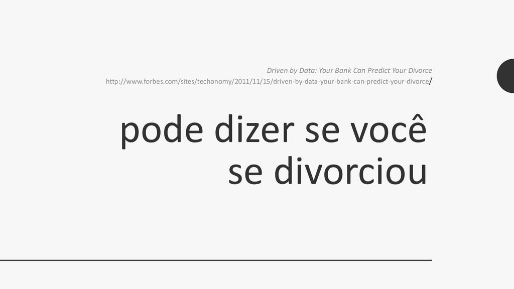 pode dizer se você se divorciou Driven by Data:...