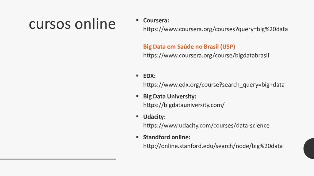 cursos online  Coursera: https://www.coursera....
