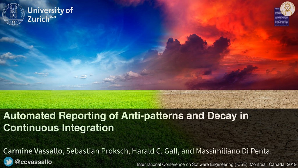 Automated Reporting of Anti-patterns and Decay ...