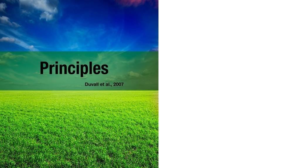 Principles !4 Duvall et al., 2007