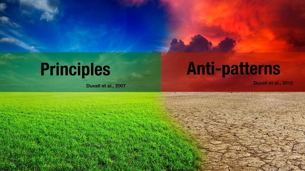 !5 Anti-patterns Duvall et al., 2010 Principles...