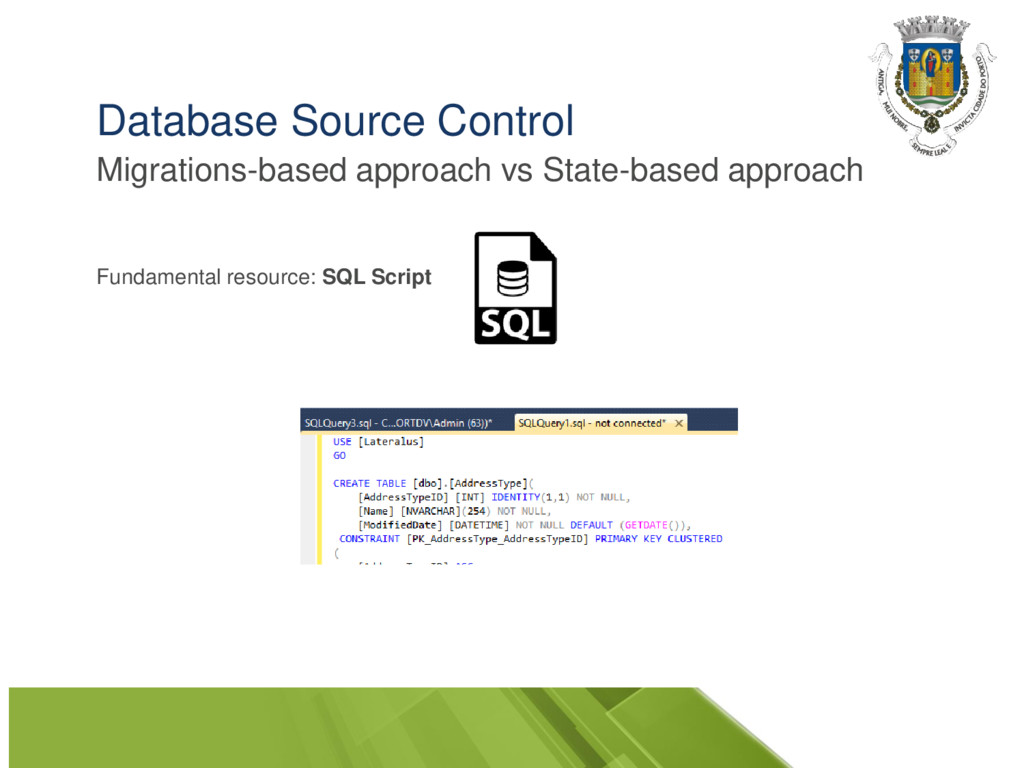 Database Source Control Migrations-based approa...
