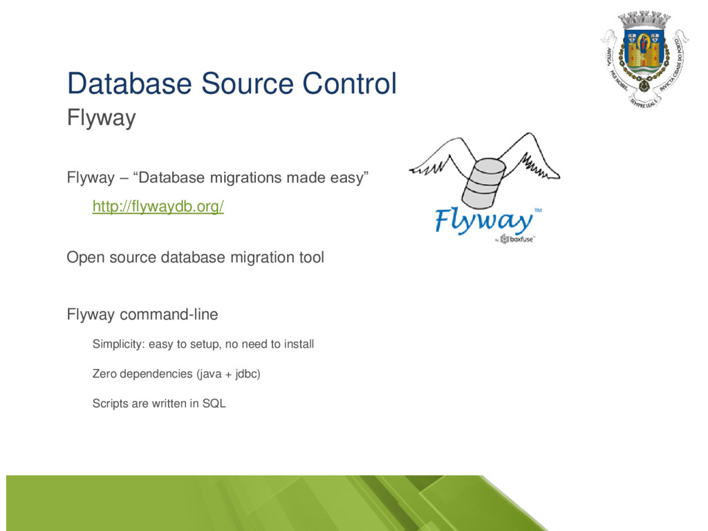 """Database Source Control Flyway Flyway – """"Databa..."""