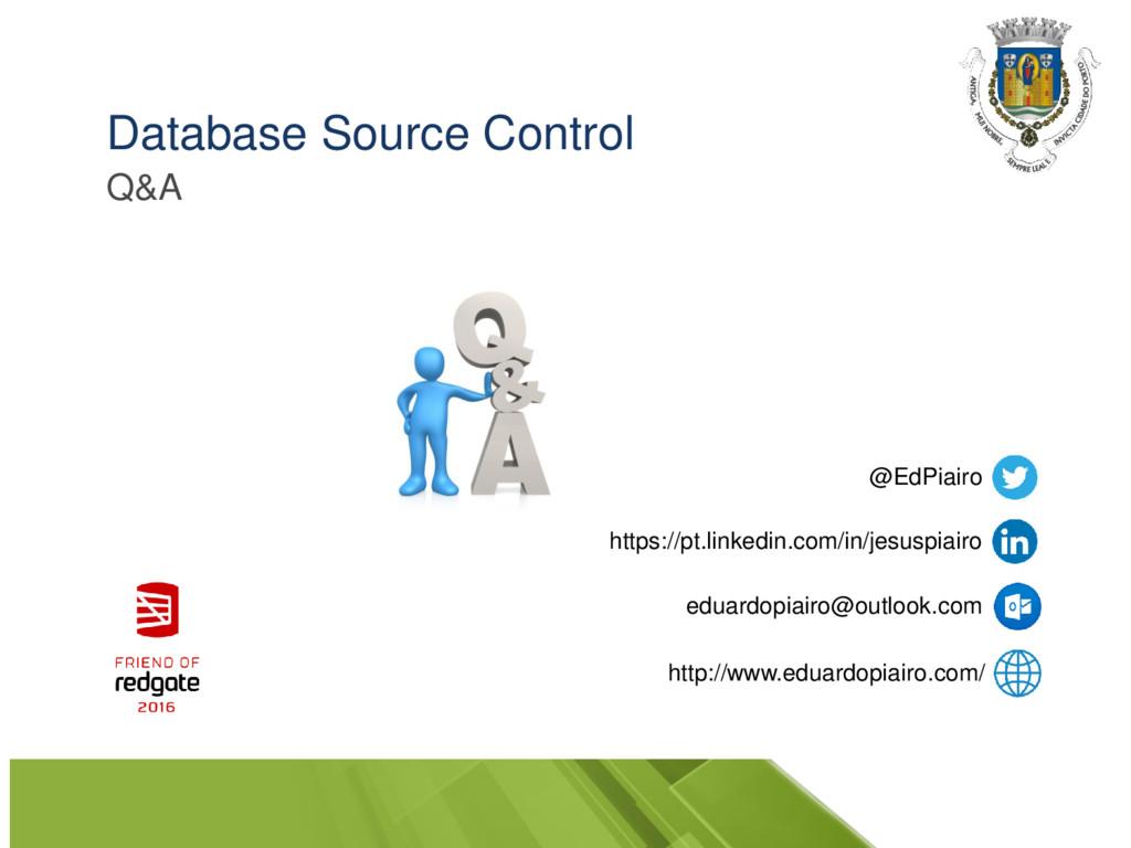 Database Source Control Q&A @EdPiairo https://p...