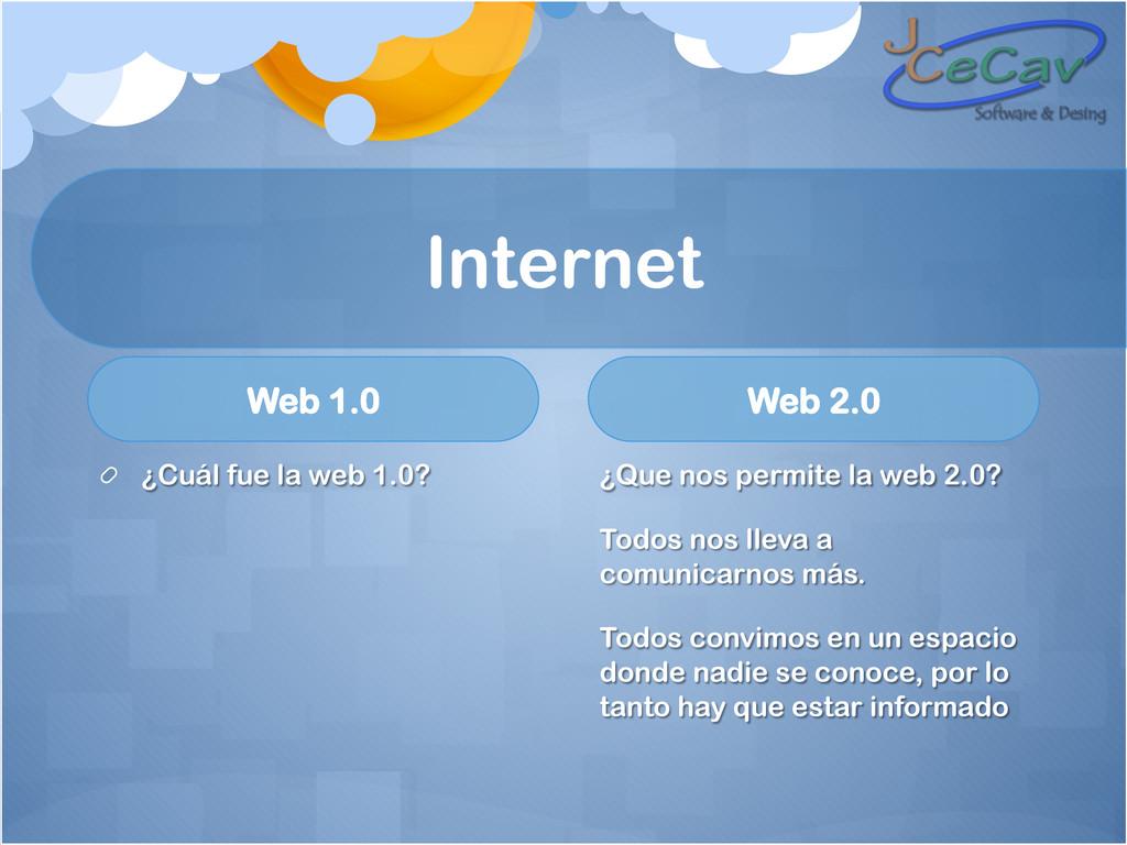 Internet Web 1.0 !  ¿Cuál fue la web 1.0? Web ...