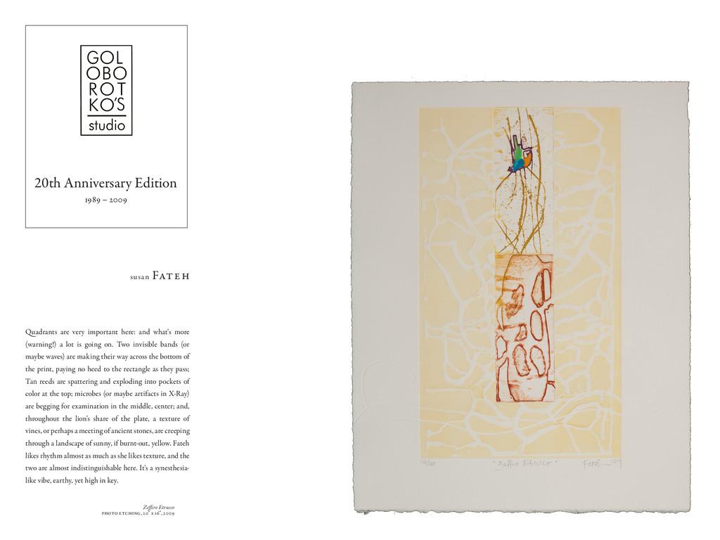 """Zeffiro Etrusco photo etching, 20"""" x 16"""", 2009 ..."""