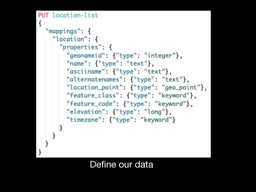 Define our data