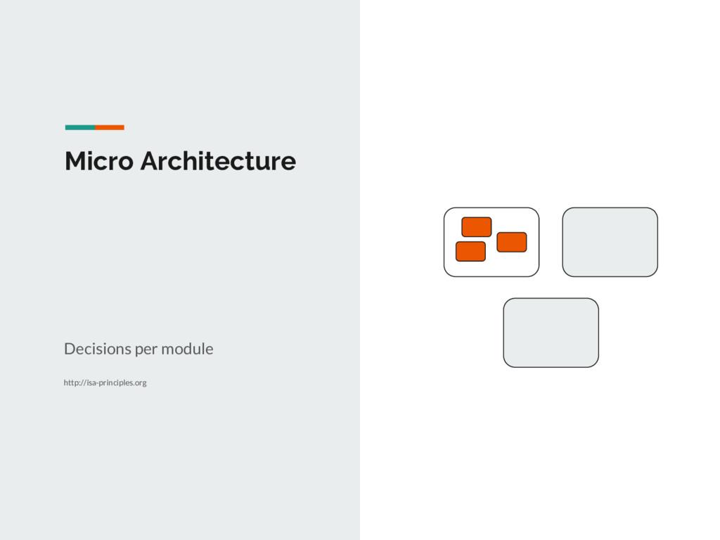 Micro Architecture Decisions per module http://...