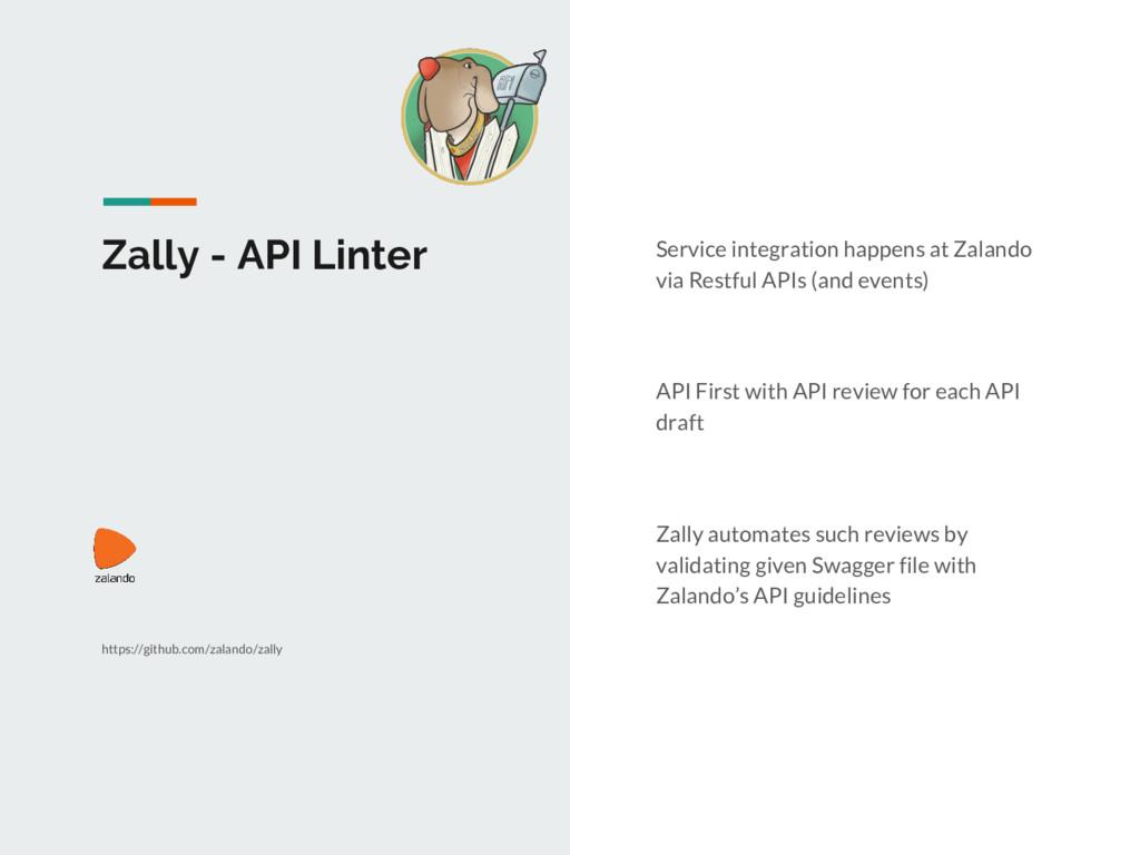Zally - API Linter Service integration happens ...