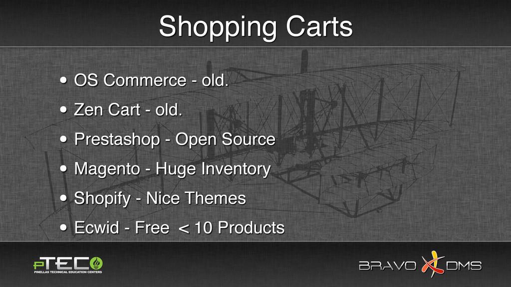 BRAVO DMS BRAVO DMS Shopping Carts • OS Commerc...