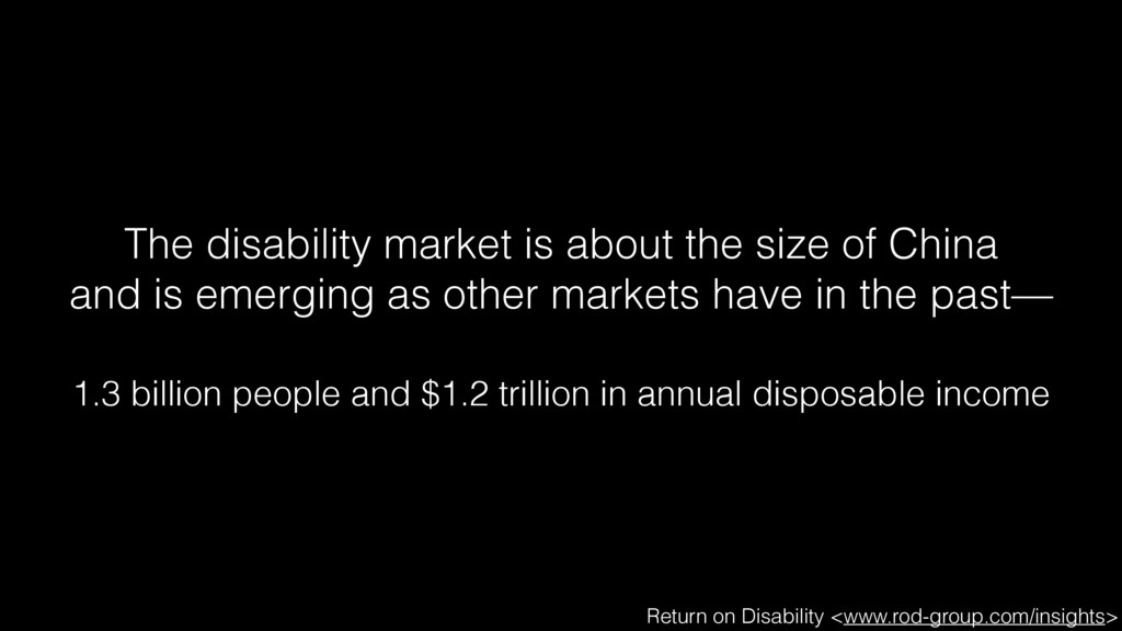 The disability market is about the size of Chin...