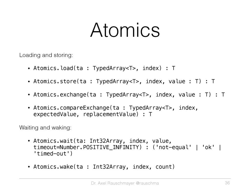 Dr. Axel Rauschmayer @rauschma Atomics Loading ...