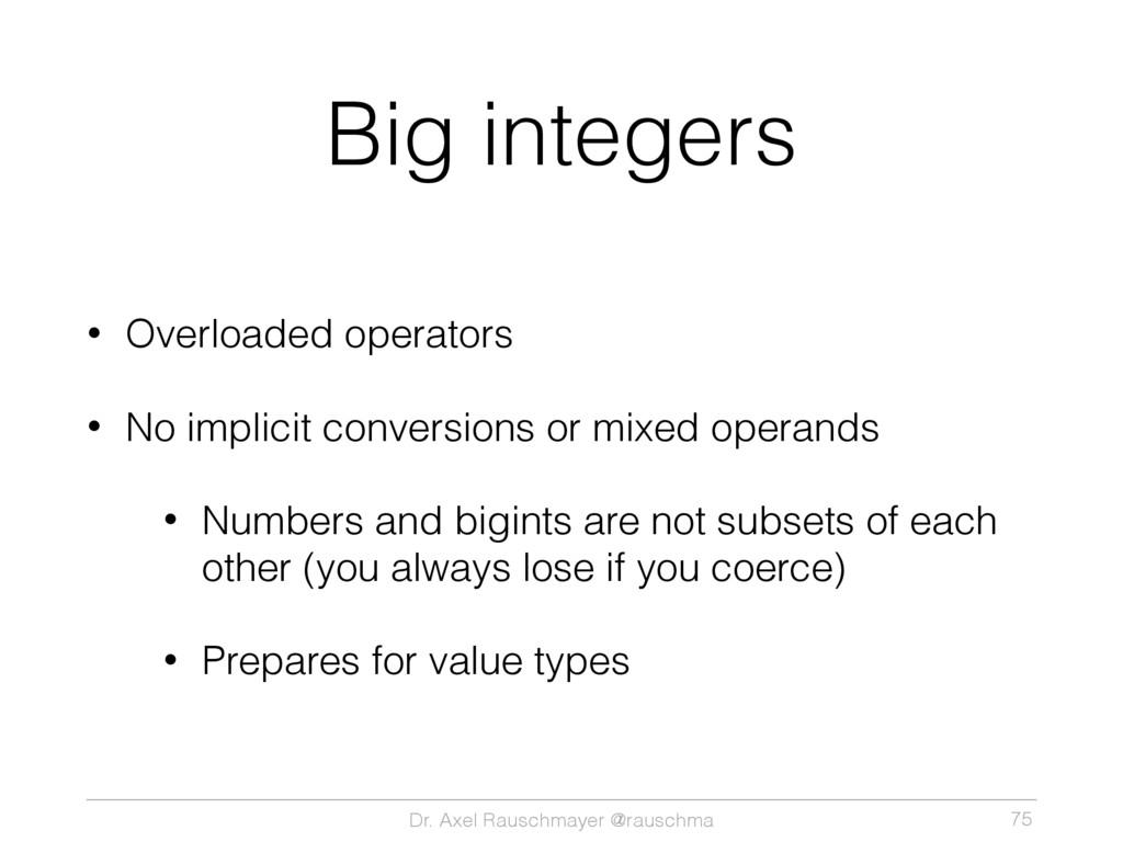 Dr. Axel Rauschmayer @rauschma Big integers • O...