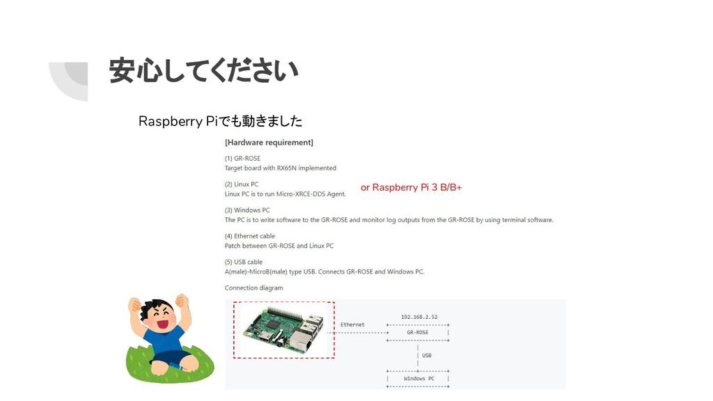 安心してください or Raspberry Pi 3 B/B+ Raspberry Piでも動...