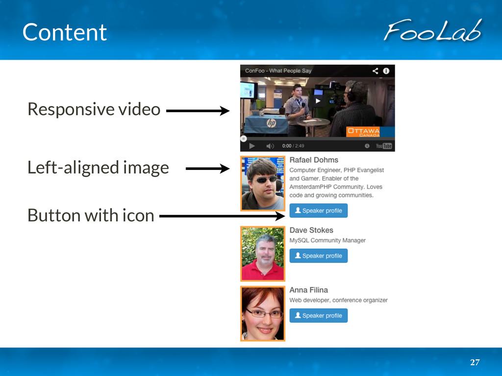 Content 27 Responsive video Left-aligned image ...