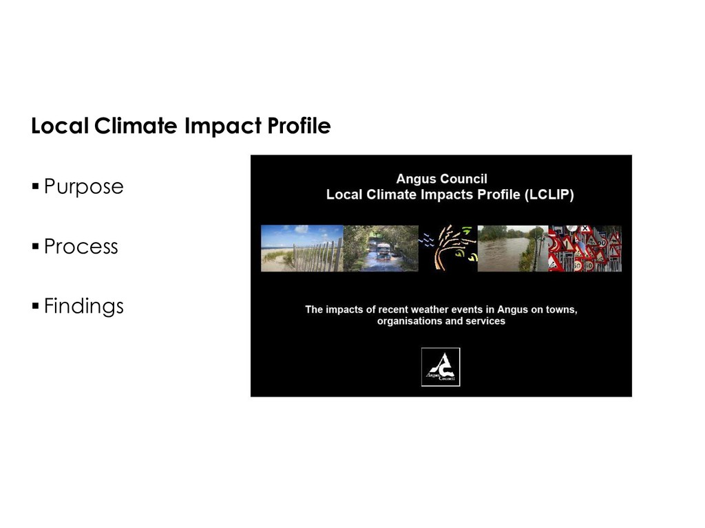 Local Climate Impact Profile  Purpose  Proces...