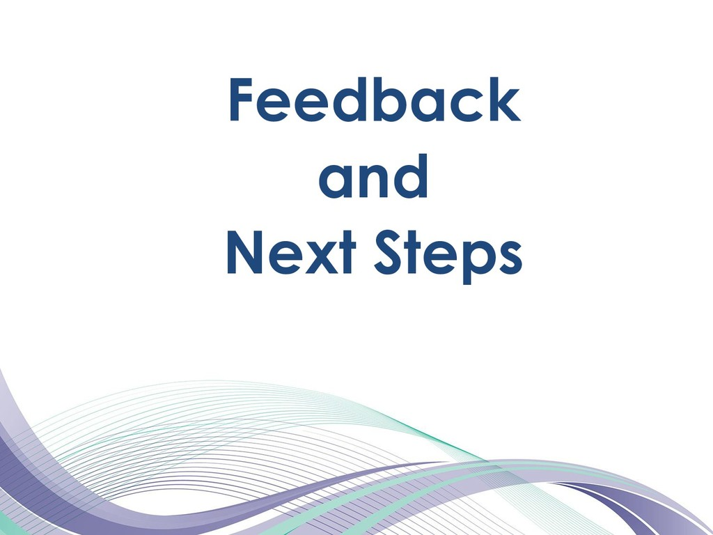 Feedback and Next Steps