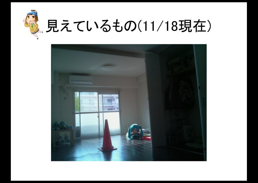 見えているもの(11/18現在)