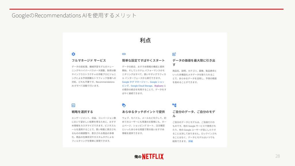 Google Recommendations AI 28