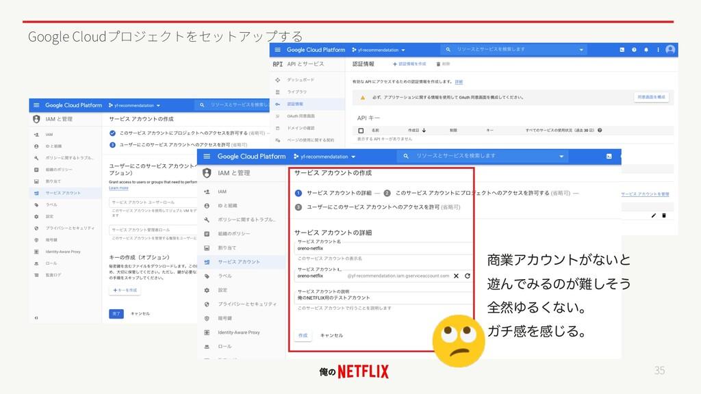 Google Cloud 35 ۀΞΧϯτ͕ͳ͍ͱ ༡ΜͰΈΔͷ͕ͦ͠͏ શવΏΔ͘ͳ͍...