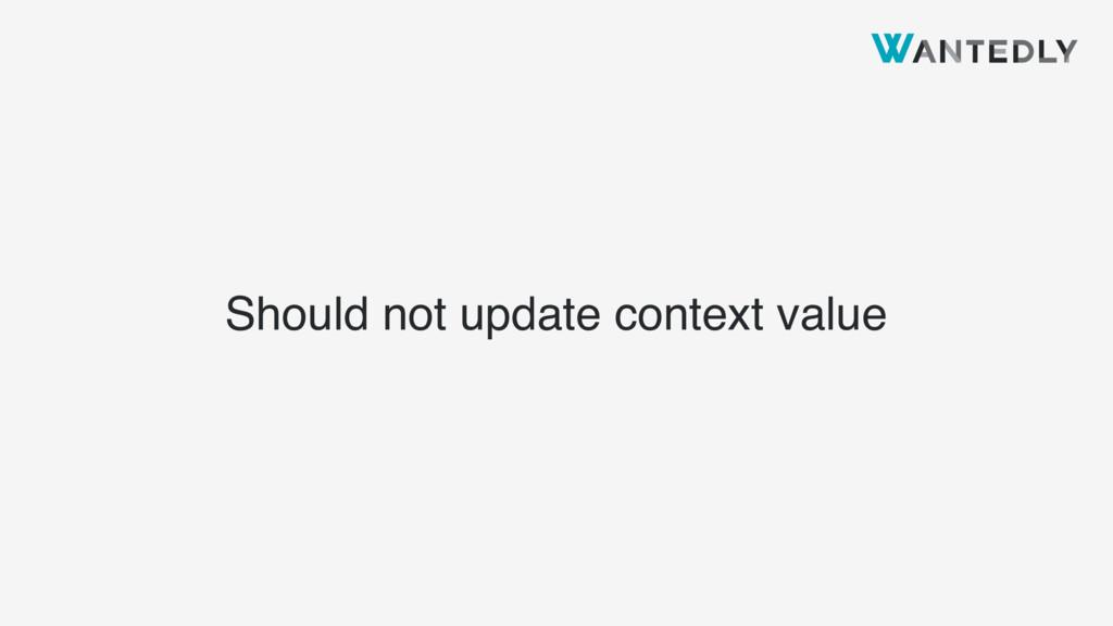 Should not update context value