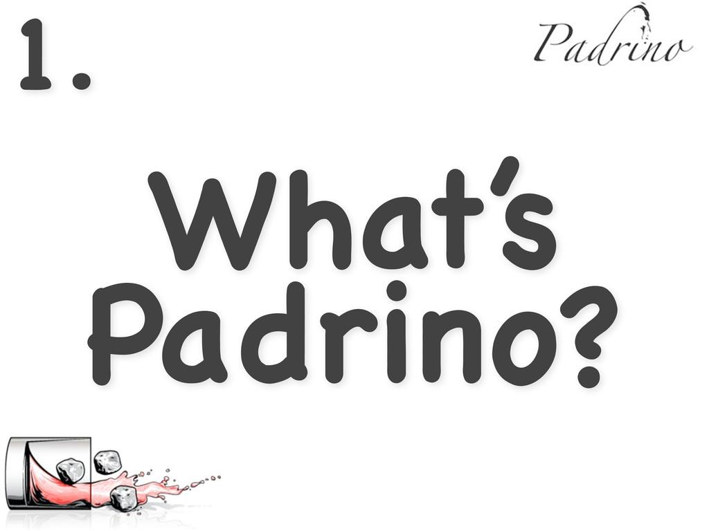 1. What's Padrino?