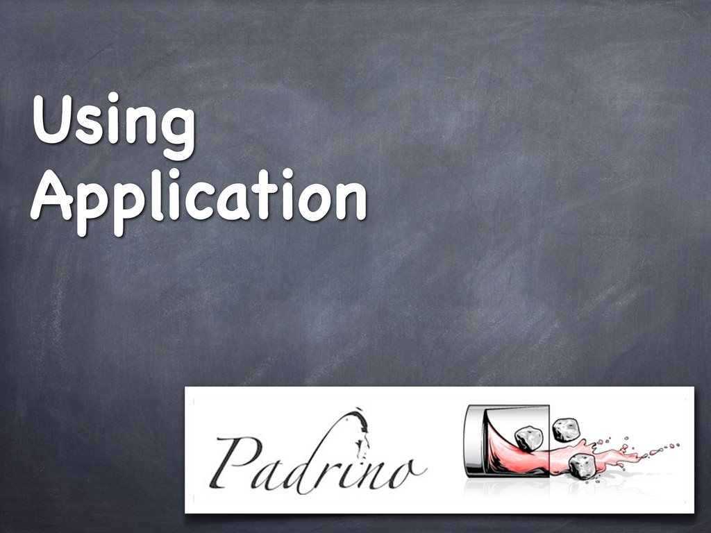 Using Application