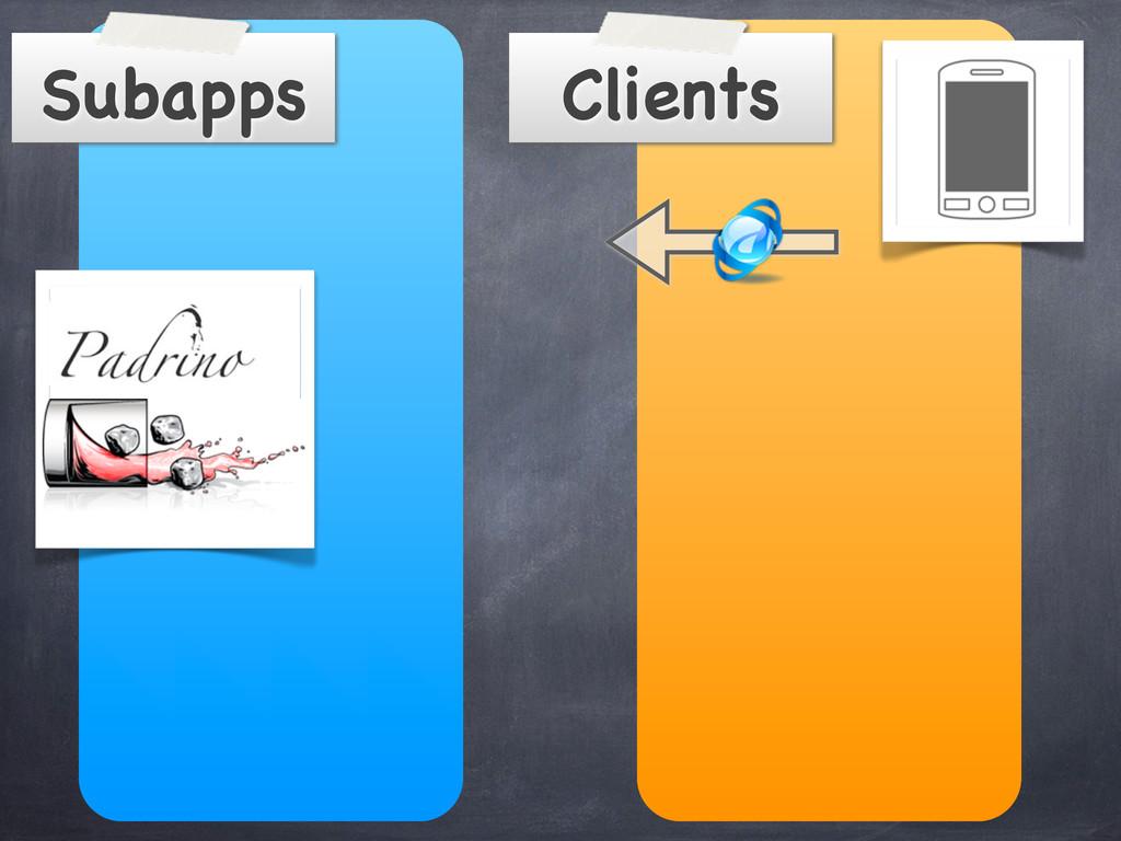 Clients Subapps