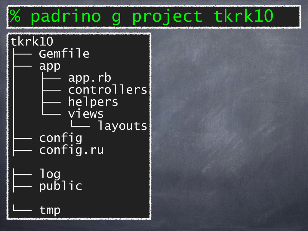 tkrk10 ├── Gemfile ├── app │ ├── app.rb │ ├── c...