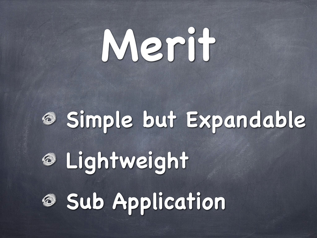 Merit Simple but Expandable Lightweight Sub App...