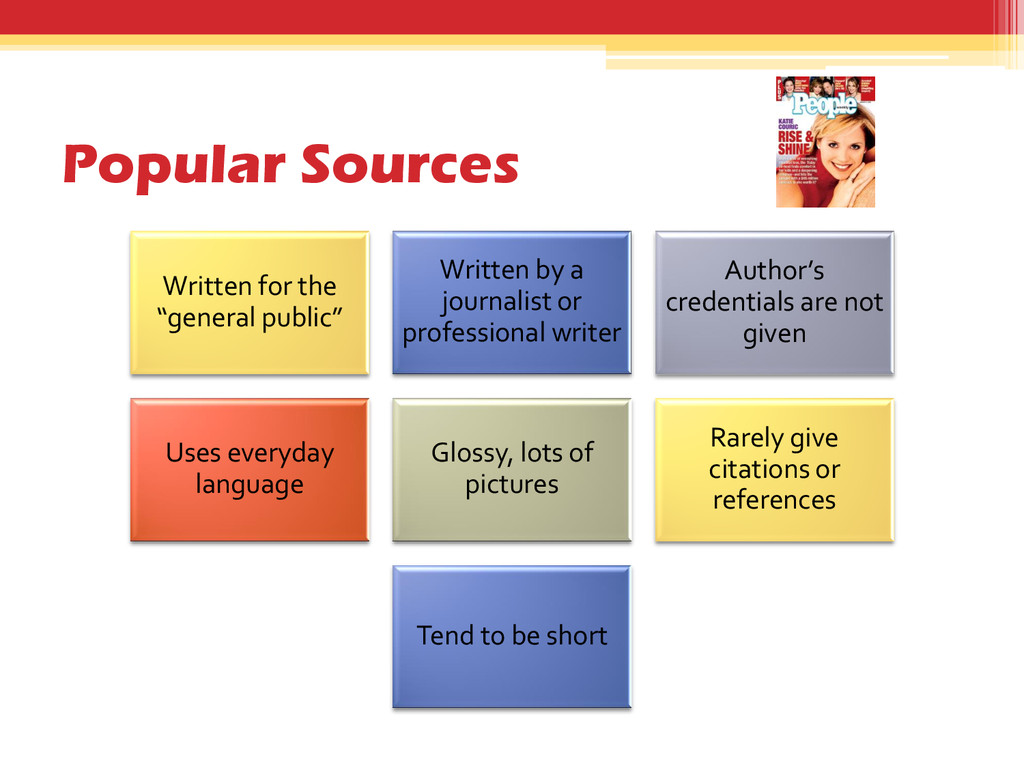 """Popular Sources Written for the """"general public..."""