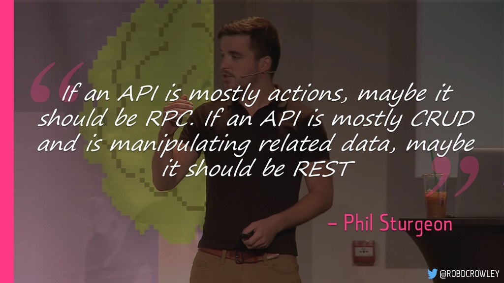 If an API is mostly actions, maybe it should be...