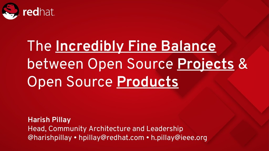 The Incredibly Fine Balance between Open Source...