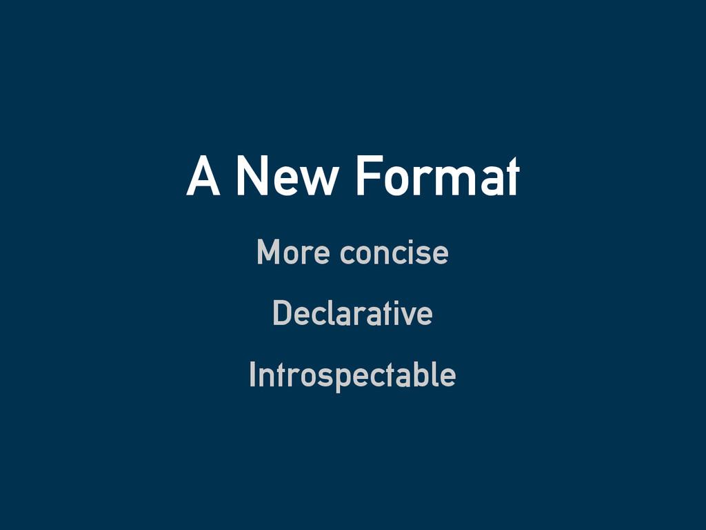 A New Format More concise Declarative Introspec...