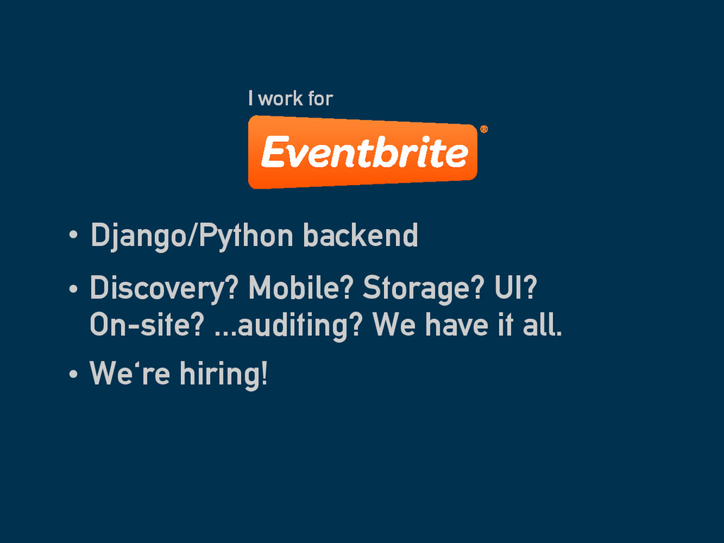 Django/Python backend I work for Discovery? Mob...