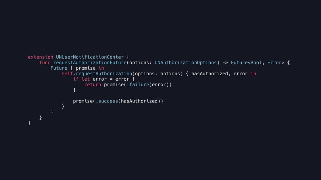 extension UNUserNotificationCenter { func reque...