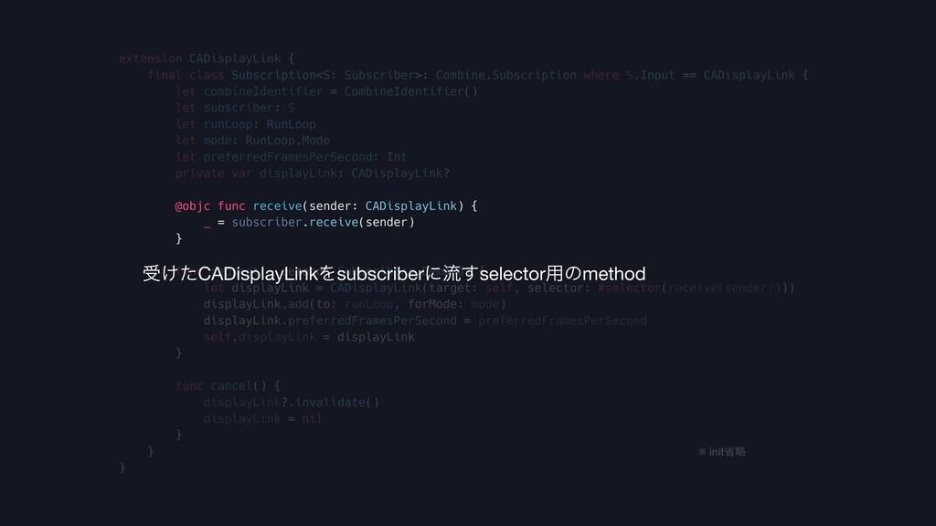 extension CADisplayLink { final class Subscript...