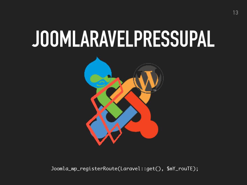 JOOMLARAVELPRESSUPAL 13 Joomla_wp_registerRoute...