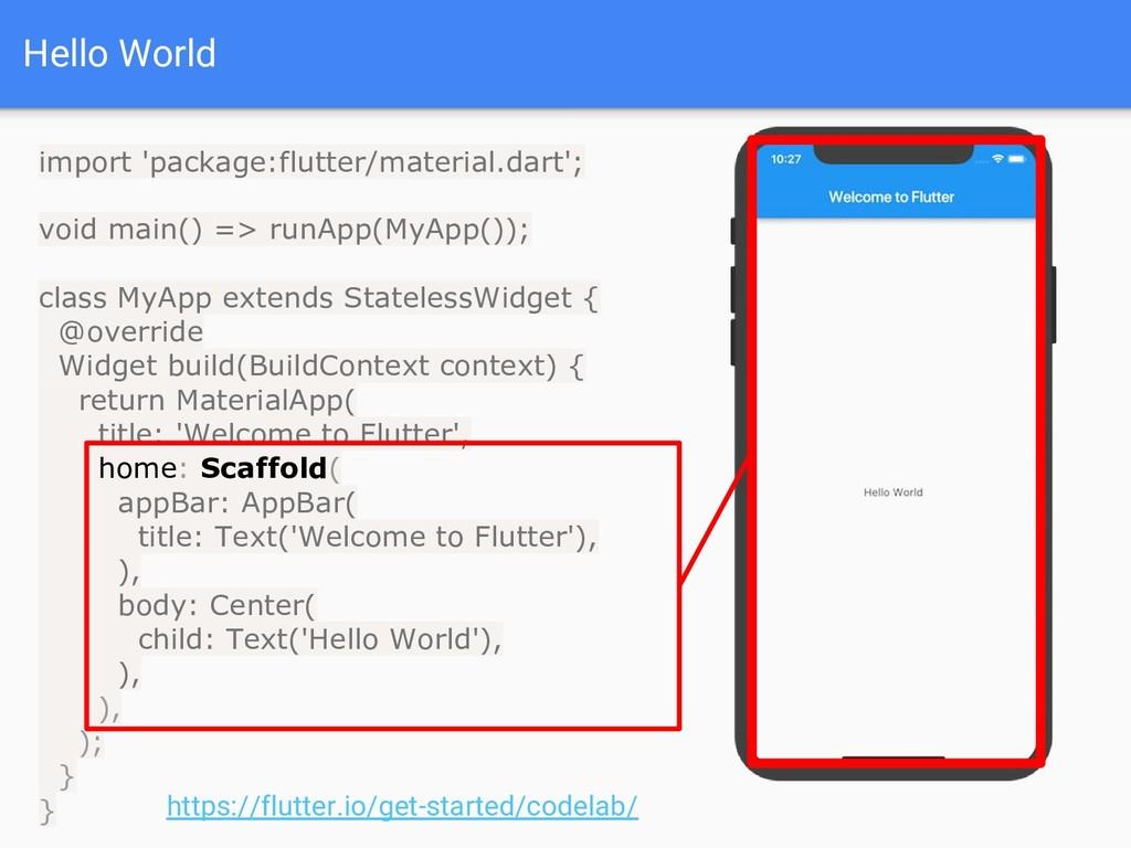 Hello World import 'package:flutter/material.da...