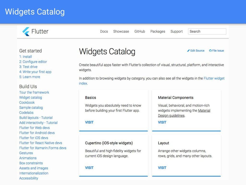 Widgets Catalog