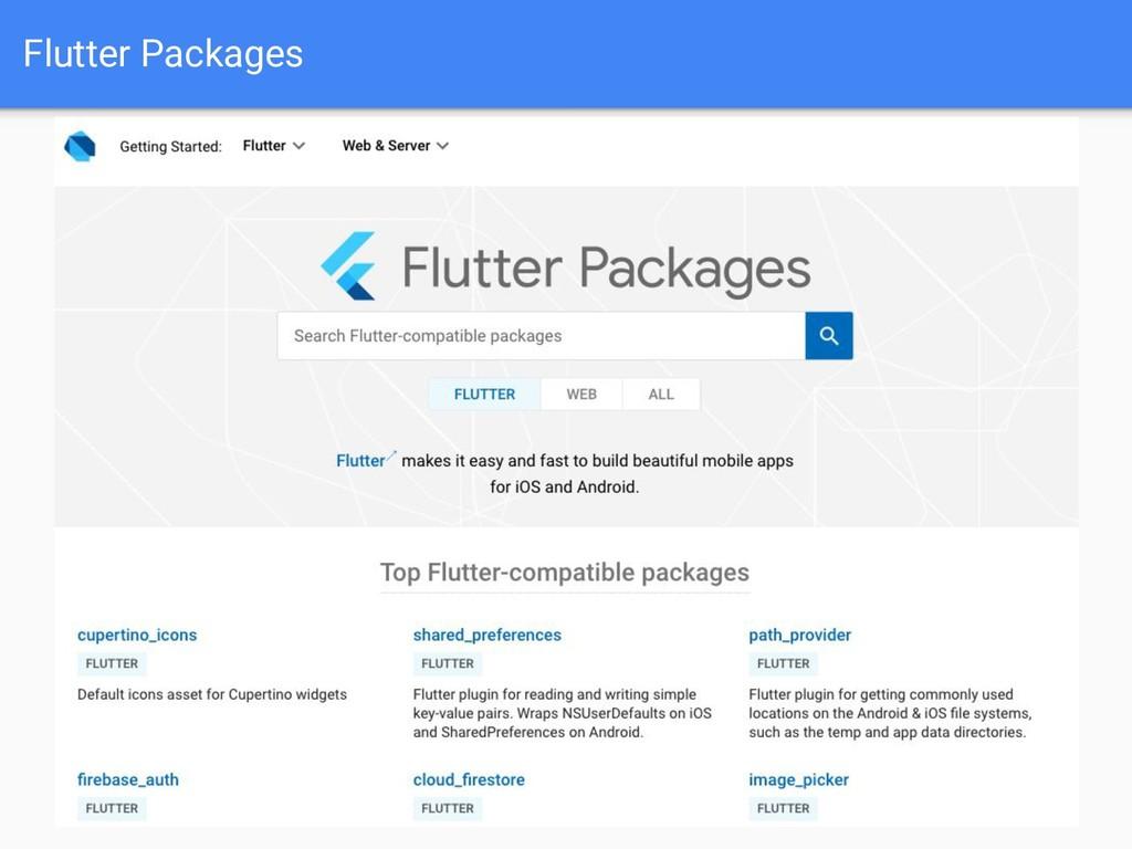 Flutter Packages