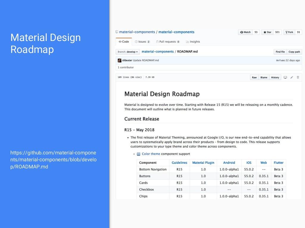 Material Design Roadmap https://github.com/mate...