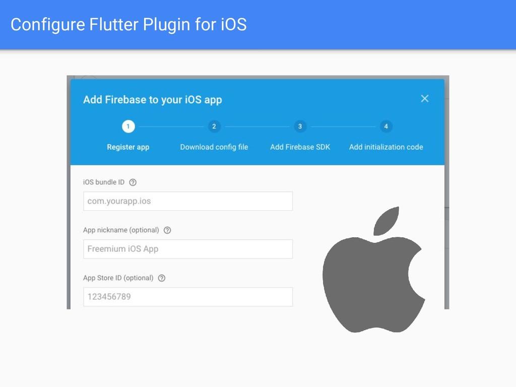 Configure Flutter Plugin for iOS