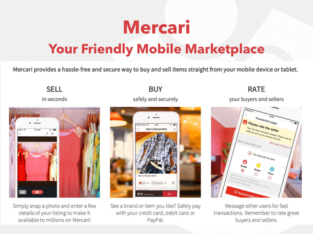 Mercari Your Friendly Mobile Marketplace